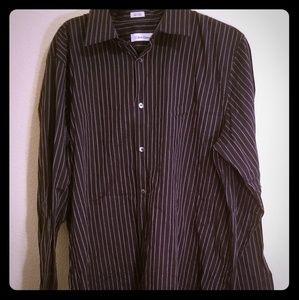 NWOT Men's Calvin Klein Stripped Shirt
